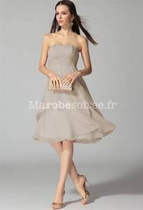 Robe Mi Longue Mariage : robe de soir e pour mariage mi longue en mousseline bustier ~ Melissatoandfro.com Idées de Décoration