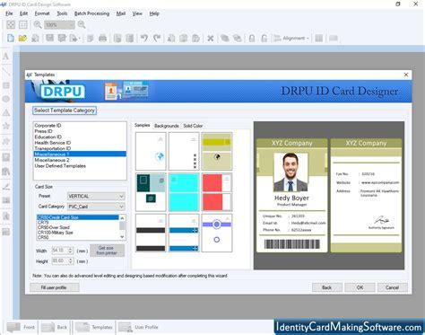 identity card making software  create design