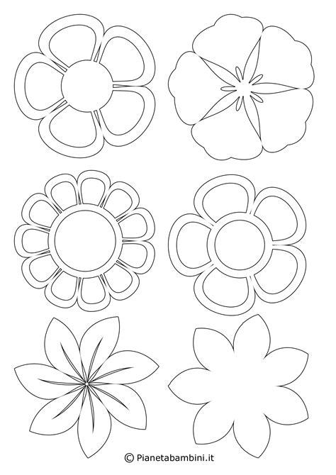 disegni piccolini 81 sagome di fiori da colorare e ritagliare per bambini