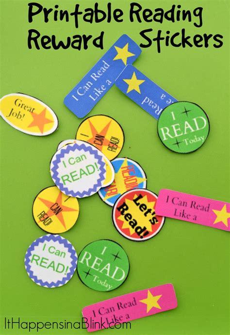 Printable Reading Reward Stickers