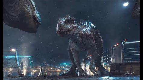 rex  indominus rex epic scene hd youtube