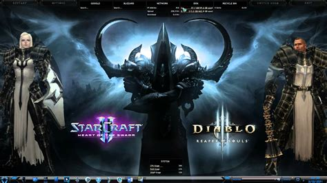 Rainmeter Animated Wallpaper - diablo 3 reaper of souls desktop theme dreamscene