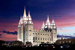 Temples By Ken Fortie  Salt Lake Temple