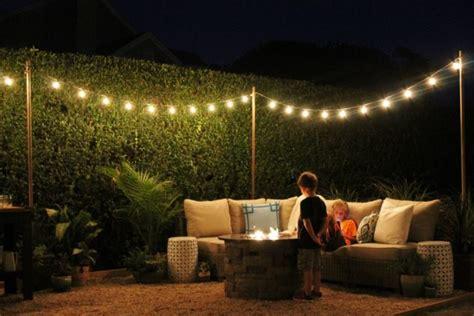 diy outdoor string lights diy backyard and patio lighting ideas