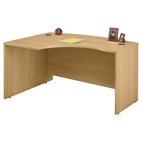 light wood corner desk bbf series c 60w x 43d lh l bow desk shell wc60333