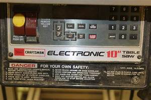 Sears Craftsman Electronic 10in  Table Saw W   Delta