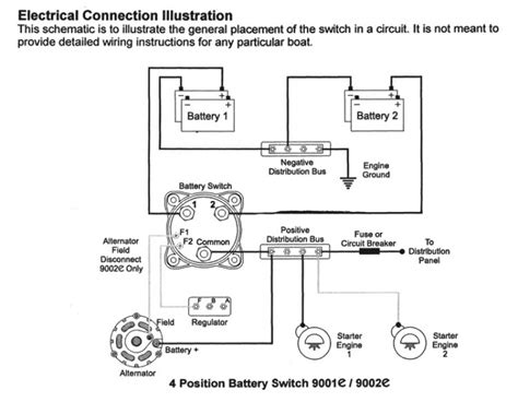 How To Install A Boat Battery by 2 Battery Boat Wiring Diagram Wiring Diagram And