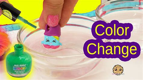color change diy color change season 6 shopkins with nail easy