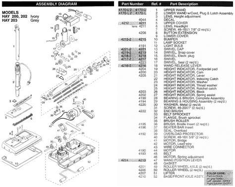 Electrolux Vacuum Cleaner Parts Diagram