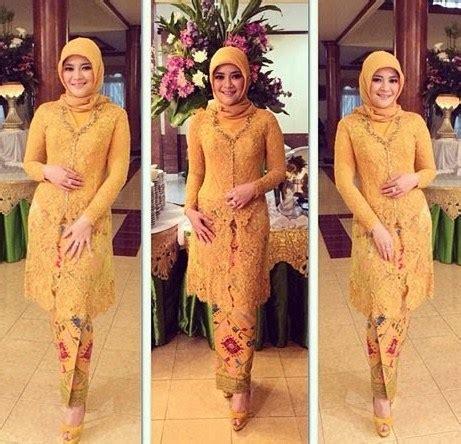 desain model baju kebaya muslim brokat modern pesta