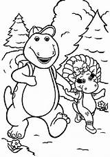 Coloring Barney Bop Pages Hiking Going Dinosaur Friends Cartoon Bj Getcoloringpages Riff Dari Disimpan sketch template