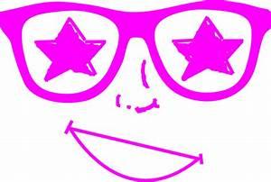 Purple Star Glasses Face Clip Art at Clker.com - vector ...