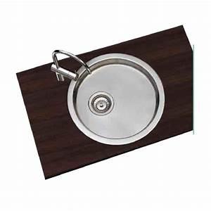 Evier Inox Rond : vier inox rond encastrer moderne 1 cuve 45 x 4 trachemin e ~ Melissatoandfro.com Idées de Décoration