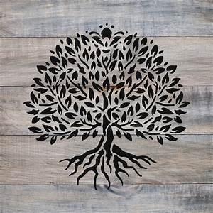 Yggdrasil, Tree, Of, Life, Stencil