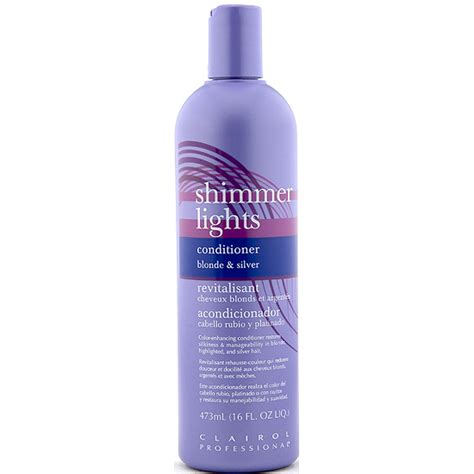 shimmering lights conditioner clairol shimmer lights conditioner silver 16oz wigtypes