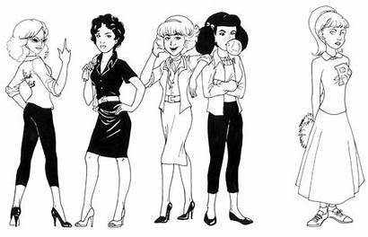 Coloring Pages Grease Pink Ladies Tell Deviantart