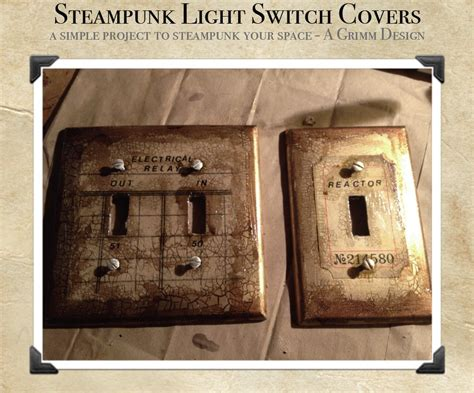 Steampunk Switch Plate Cover Diy By Agrimmdesign On Deviantart Industrial Pendant Lighting For Kitchen Edison Style Light Bulbs 2005 Dodge Ram Tail Lights Led Truck Work Crystal Chandelier Philips Christmas Vanity Bar Ikea Cars