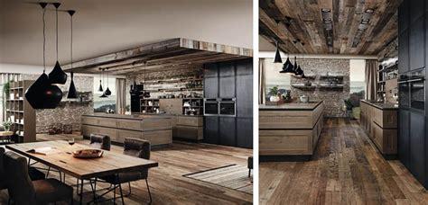 cocinas de madera de estilo rustico industrial
