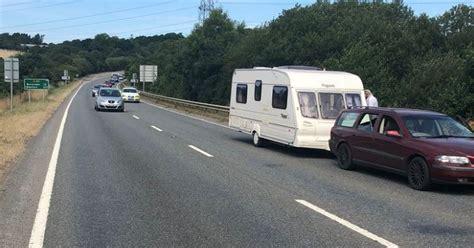 A361 North Devon Link Road At Standstill With Five Mile
