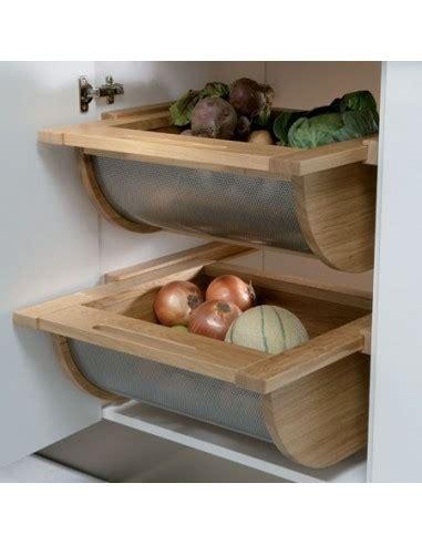 Veg Drawers by Wooden Stainless Vegetable Basket Drawer Oak 500 600