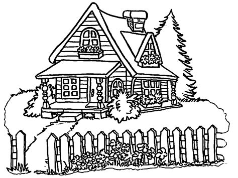 Coloring House by House Coloring Pages Wecoloringpage
