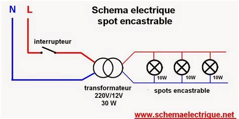 spot led encastrable meuble cuisine schema electrique branchement cablage