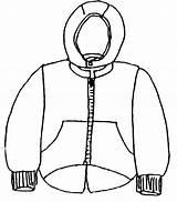 Coloring Coat Winter Clothes Clothing Warm Pages Season Jacket Shirt Drawing Body Protect Template Printable Tshirt Coats Sheet Sheets Terminator sketch template
