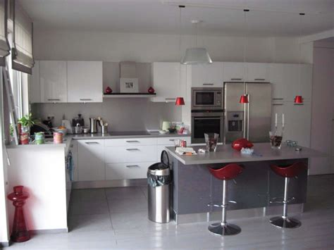 cuisine et blanc photos déco cuisine en gris et blanc