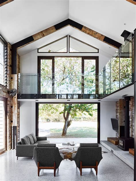 house with big windows brick house with big windows in australia loft styled house