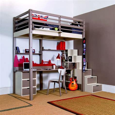 lit mezzanine 2 places avec canapé bedroom furniture design for small spaces