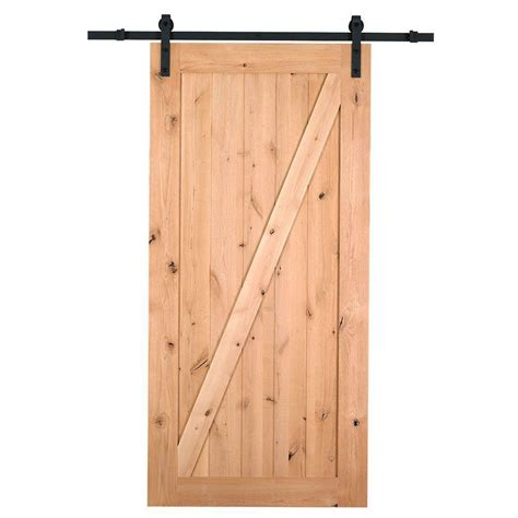 Barn Sliding Door Hardware Canada by Northbeam 36 In X 84 In Canadian Hemlock Unfinished Barn