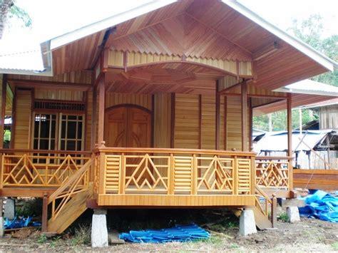 gambar desain rumah  kayu jati mewah sederhana modern