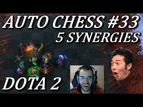 damage cc all in 5 synergies auto chess gameplay commentary 33 dota 2 youtube
