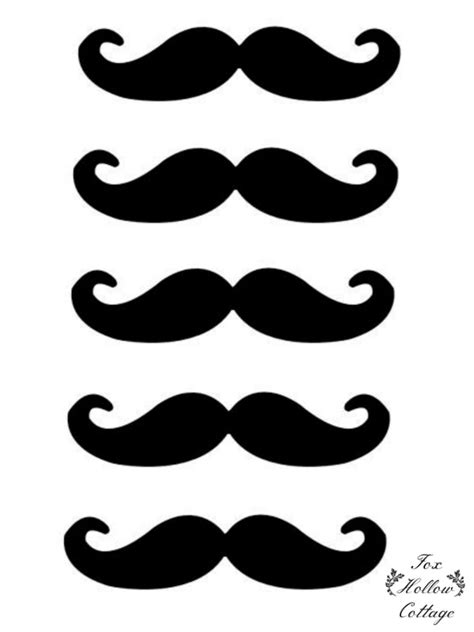Free Lip And Mustache Printables Photo Booth Props Fox
