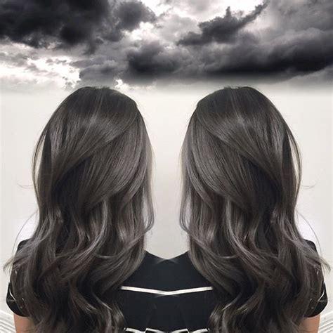 Charcoal Hair Dye by Smoky Charcoal Gray Hair Color By Janai Hartt Hotonbeauty