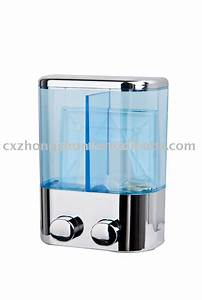 2 300ml H Q Bathroom Kitchen Wall Mount Manual Double Soap
