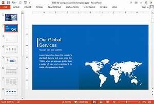 how to create a powerpoint presentation for investors With model company profile template