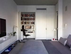 Schreibtisch Im Schlafzimmer : arbeitsplatz und drucker im wohnzimmer verstecken ideen ~ Sanjose-hotels-ca.com Haus und Dekorationen