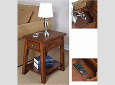 Device charging end table for those of us who don't use Qi