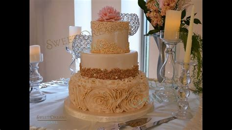 gold pearls  dragee candy  cake