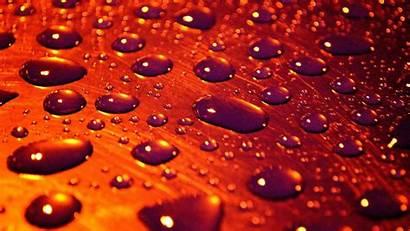 Water Drops 3d Orange Many Drop Surface