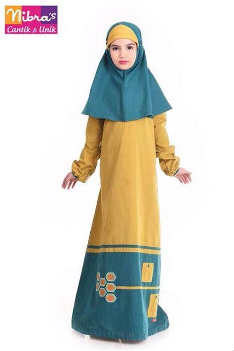 Harga Gamis Merk Nibras jual terbatas baju gamis syari anak murah nibras nsa p32