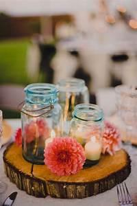 Blue-mason-jar-rustic-wedding-centerpieces, -, Home, Decorating, Trends