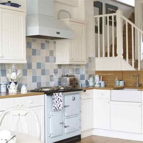Country Kitchen Tile Ideas by Small Blue White Country Kitchen Small Kitchen Decor
