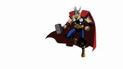 Thor Animated Gifs Flying Superhero Heroes Fly