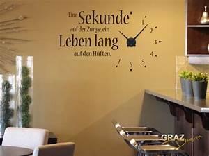 Wanduhr Schwarz Modern : wandtattoo uhr ~ Michelbontemps.com Haus und Dekorationen