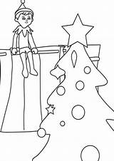 Elf Shelf Coloring Pages Tulamama Printable Easy Different sketch template