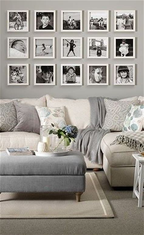 Living Room Decor Photo Gallery by A Gallery Wall Display For The Sofa Using White