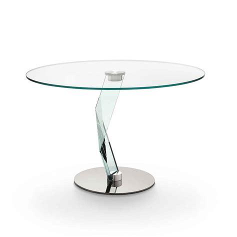 Bakkarat Round Glass Dining Table By Tonelli Klarity