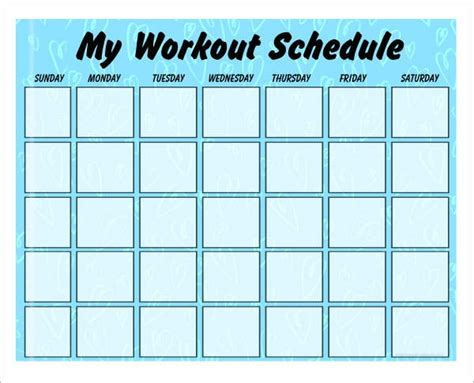 Weekly Fitness Plan Template by Weekly Exercise Plan Template Best Template Design Images